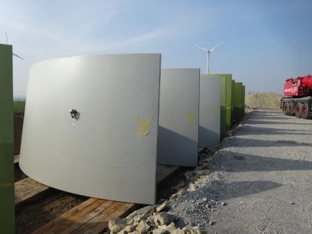 WP Eilerberg Repowering Turmelemente aus Beton